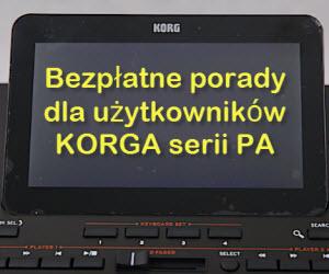 Darmowe poradniki dla użytkowników Korga pa3x pa4x pa900