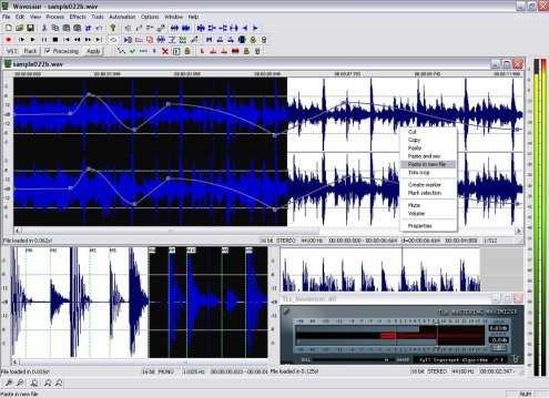 Wavosaur - Freeware Audio Editor v1.02