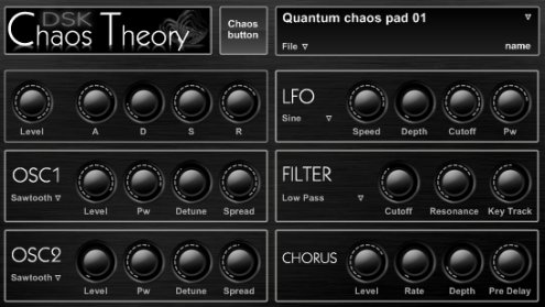 DSK Music - Chaos Theory v1.0 freeware synthesizer