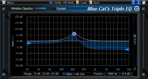 Blue Cat's Triple EQ 3 freeware EQ