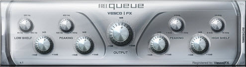 VescoFX - Equeue freeware EQ