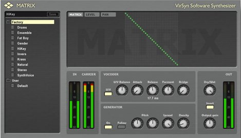 Matrix Vocoder